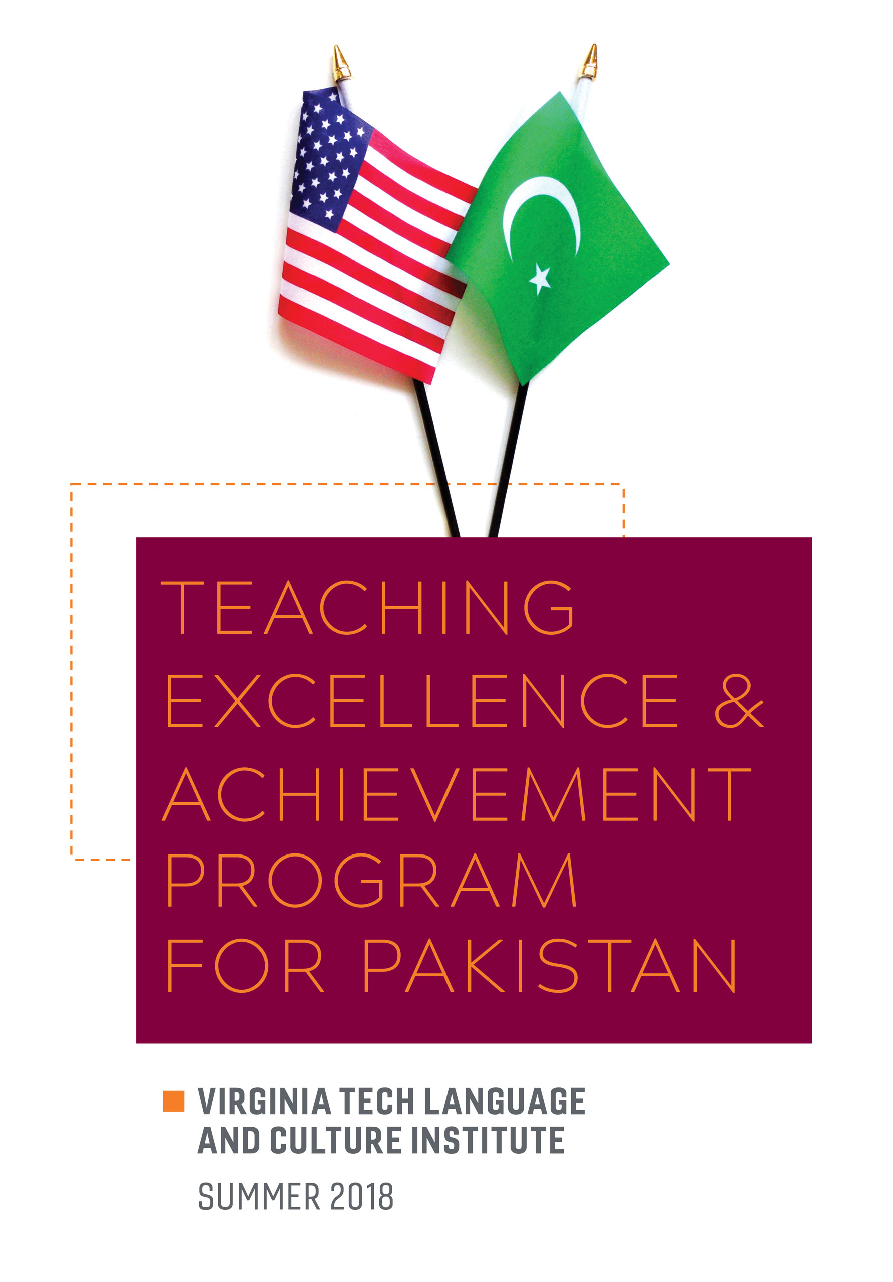 Cover of the TEA Program for Pakistan brochure